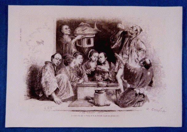 作品画像:アンベール「幕末日本図絵」挿絵 酒盛り