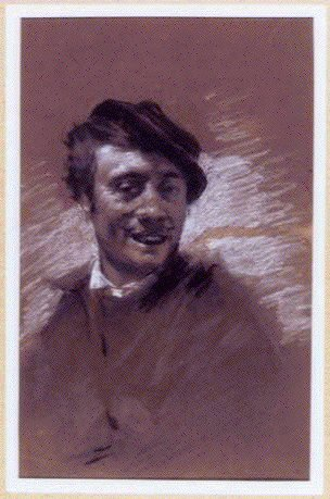 作品画像:素描  帽子を被る男