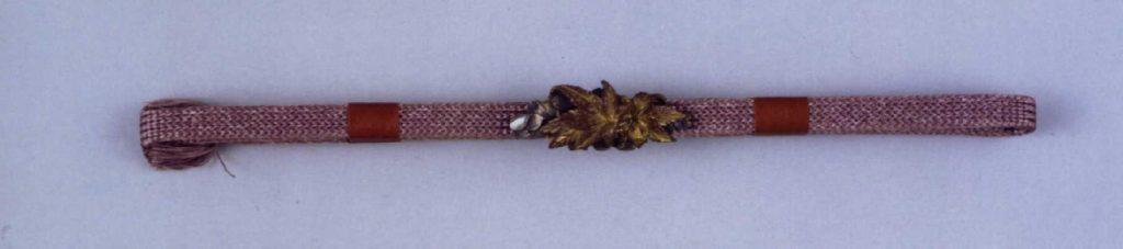 吉野立田(紅葉に桜)彫帯留付帯締