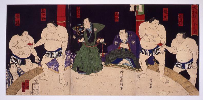 作品画像:大相撲引分図