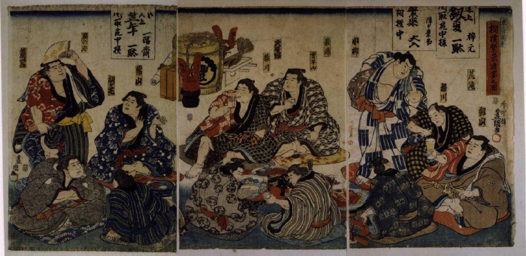 作品画像:相撲繁栄遊宴之図