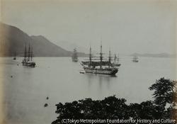 作品画像:H.M.S.コンカラー号と門司崎湾