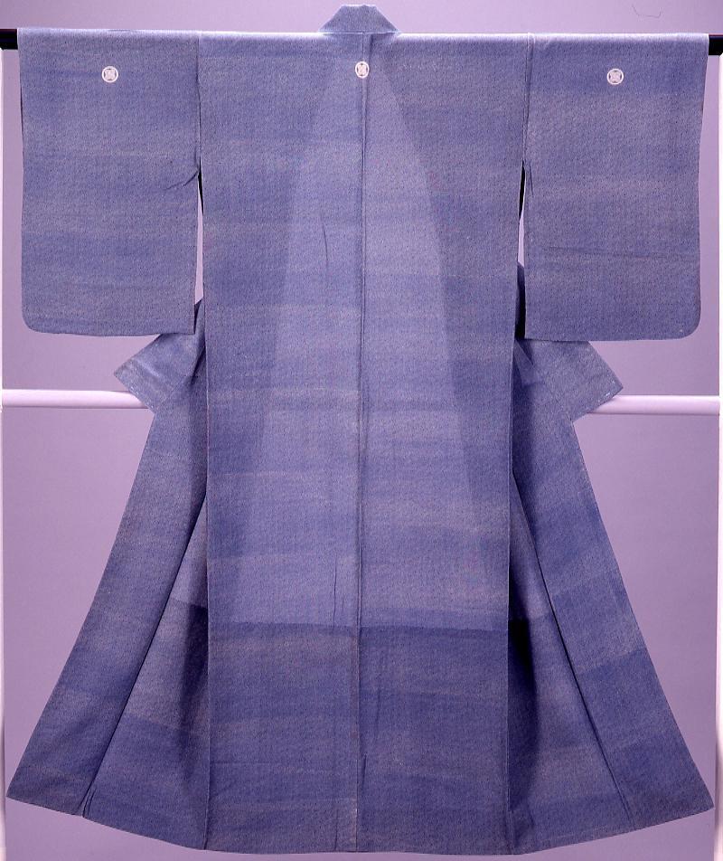 作品画像:着物(単衣) 狢菊文様小紋 三ツ紋