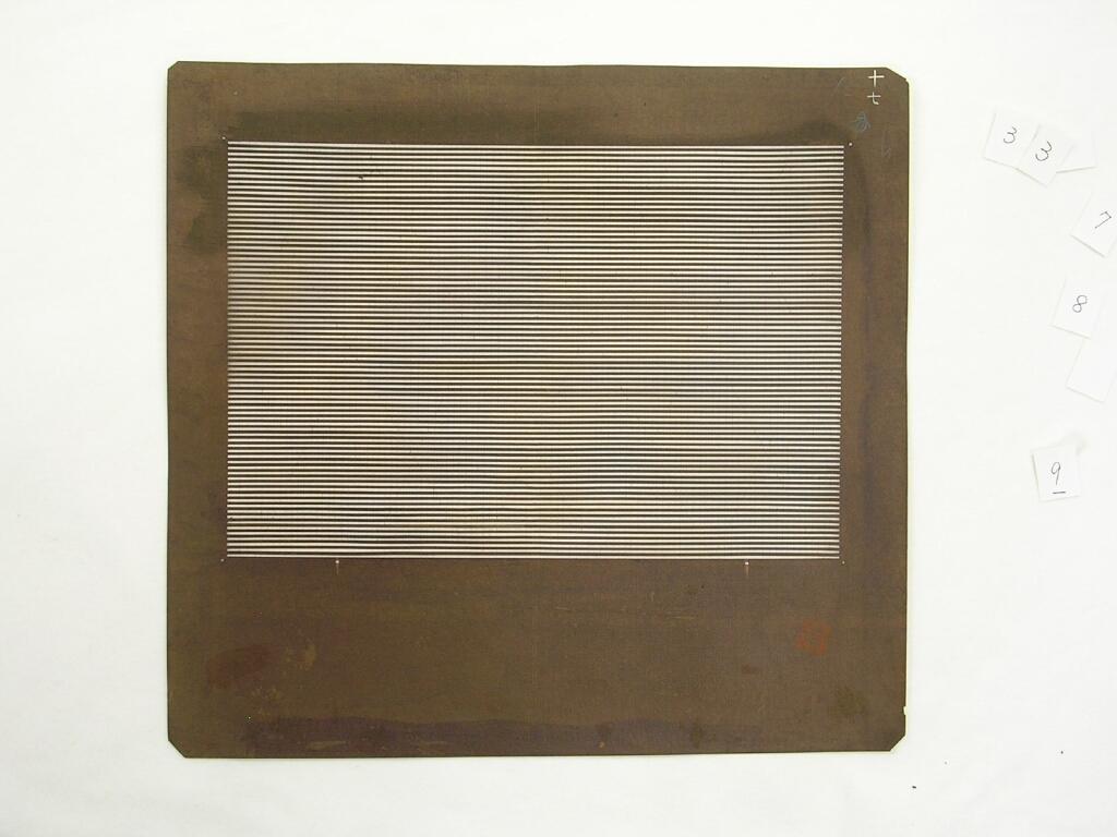 作品画像:長板中形型紙 横棒縞