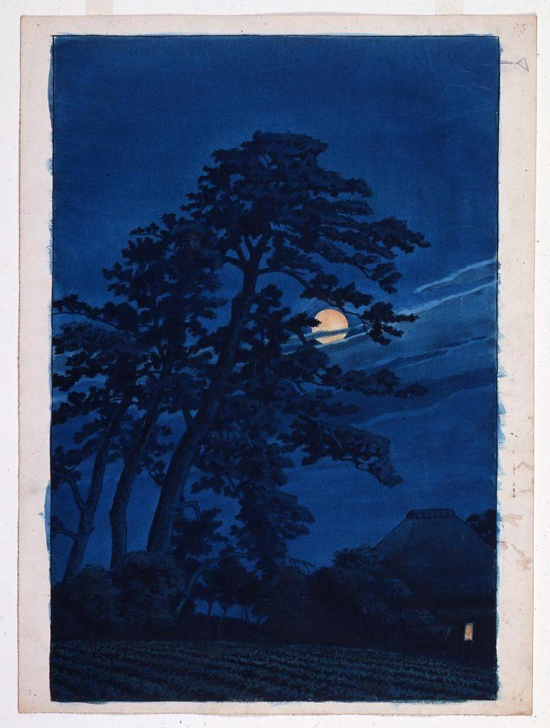 作品画像:東京二十景 馬込の月 原画