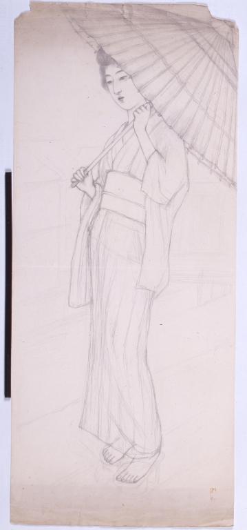 作品画像:唐傘を持つ女