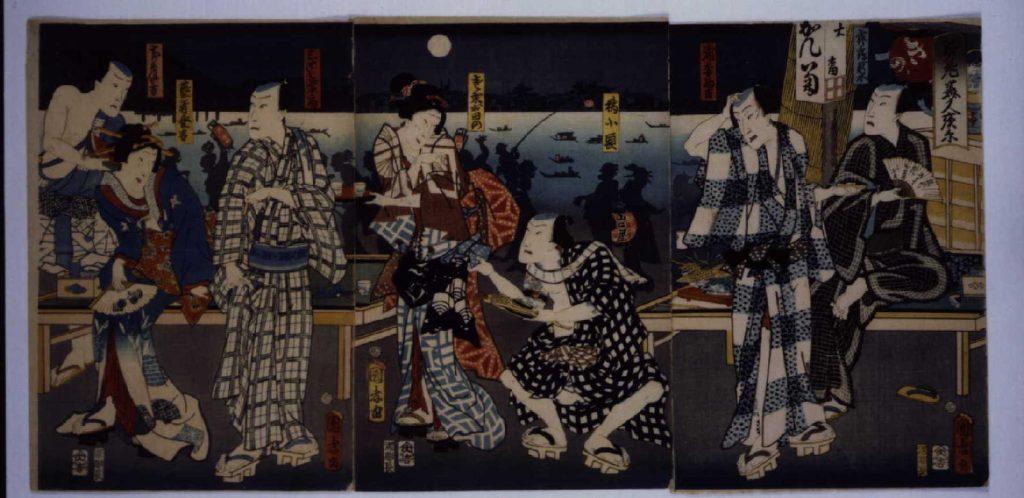 作品画像:江戸の花美人夜景