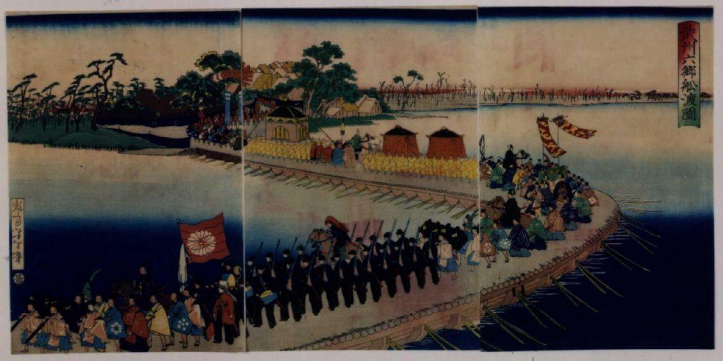作品画像:武州六郷船渡図