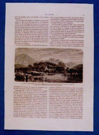 作品画像:アンベール「幕末日本図絵」挿絵 四国丸亀城,長崎港の入口