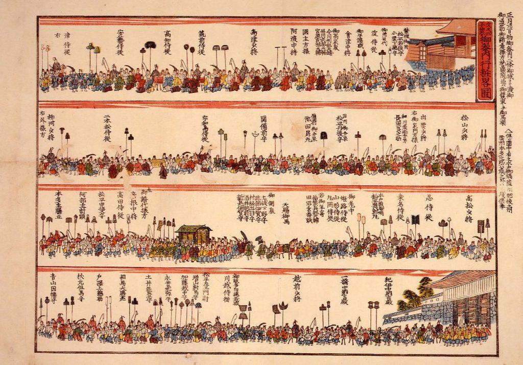 作品画像:将軍家茂御参内行粧略図