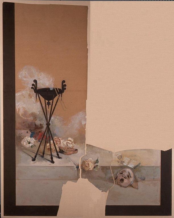 作品画像:下絵断片 「シーザーの香炉」(薔薇)