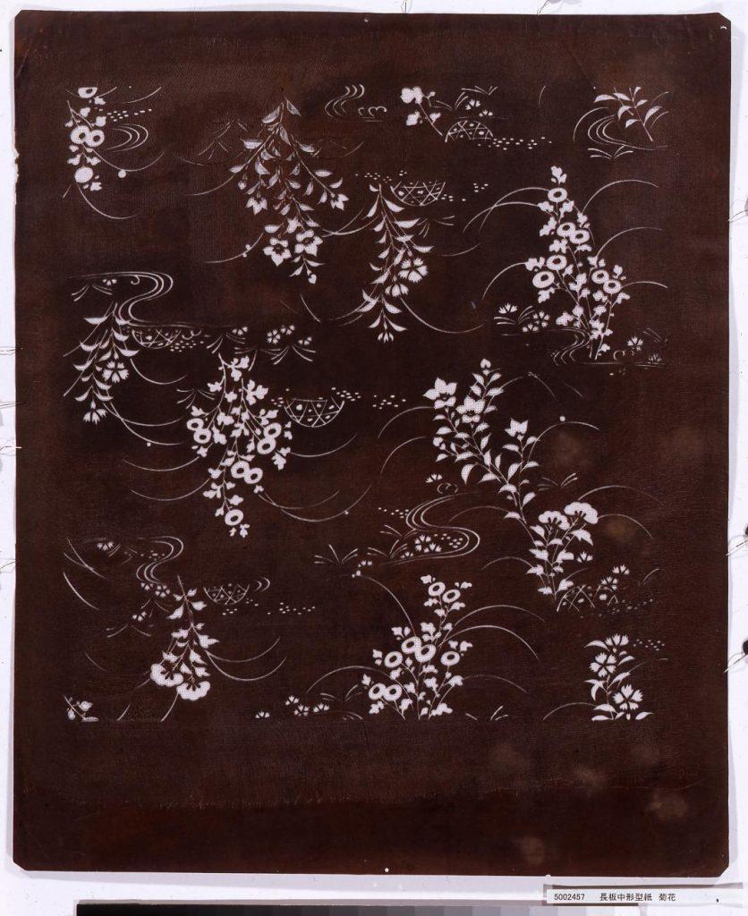 作品画像:長板中形型紙 菊花