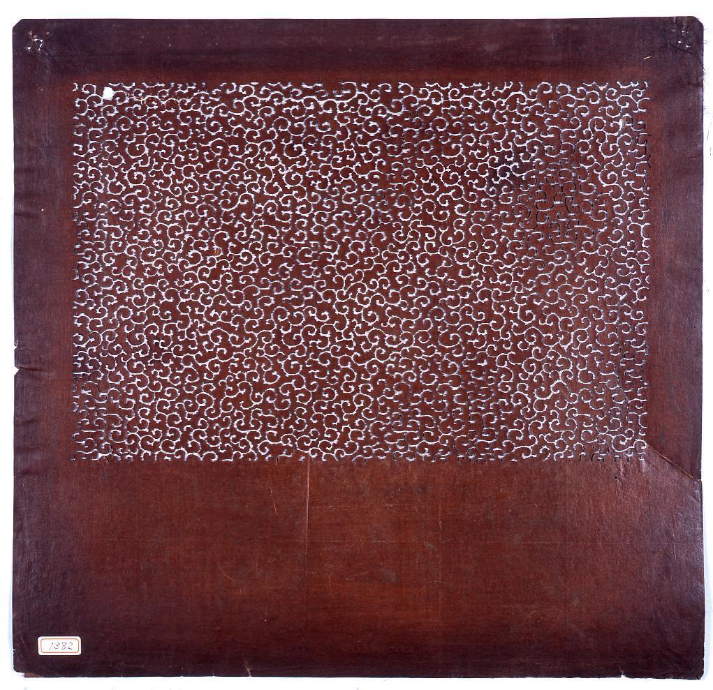 作品画像:長板中形型紙 唐草