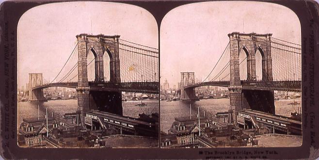 作品画像:外国製ステレオ写真 The Brookiyn Brige,New York.(No.20)