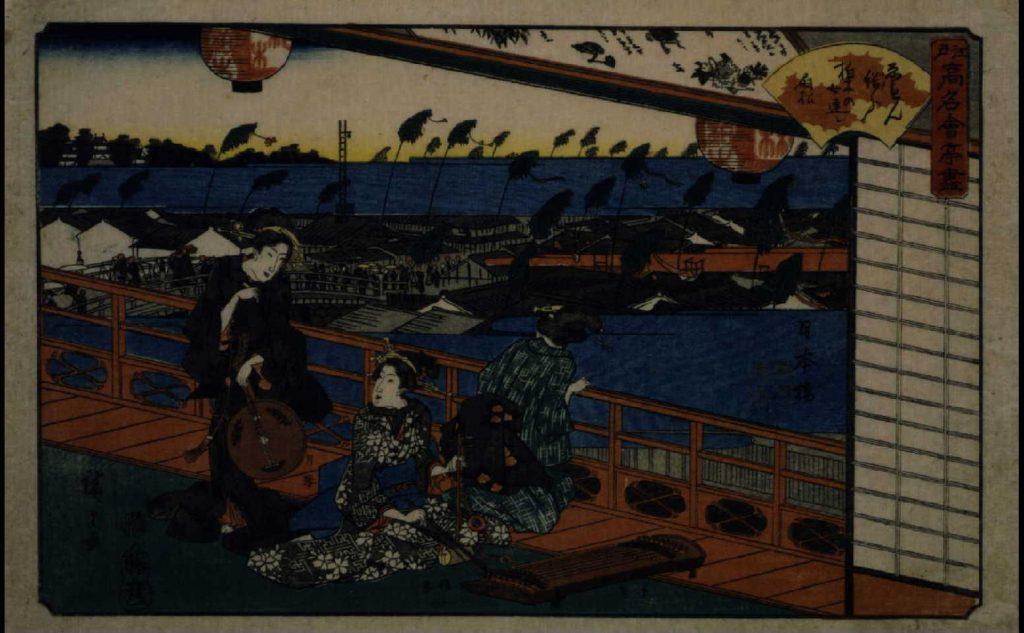 作品画像:江戸高名会亭尽 日本橋(柏木)