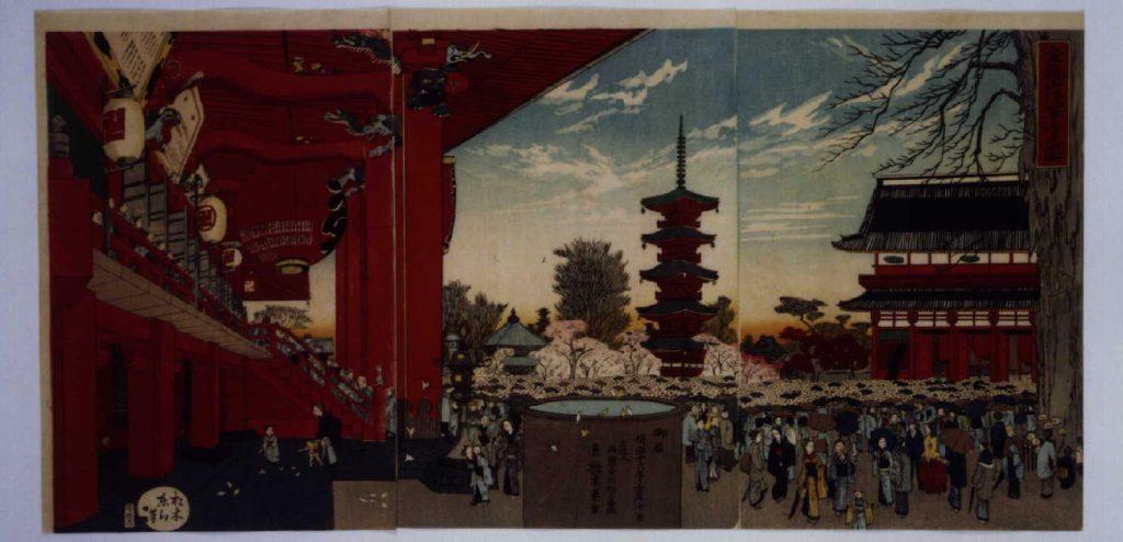 作品画像:金龍山浅草寺之図