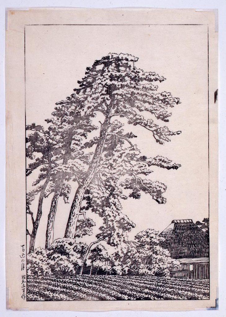 作品画像:東京二十景 馬込の月 校合摺