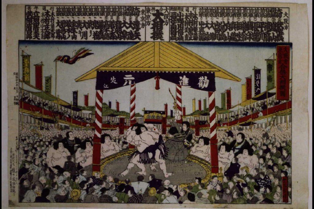 作品画像:東京方大阪方 合併大相撲図