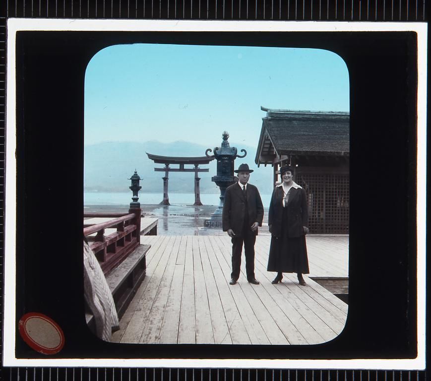 広島 宮島厳島神社(幻燈原板)
