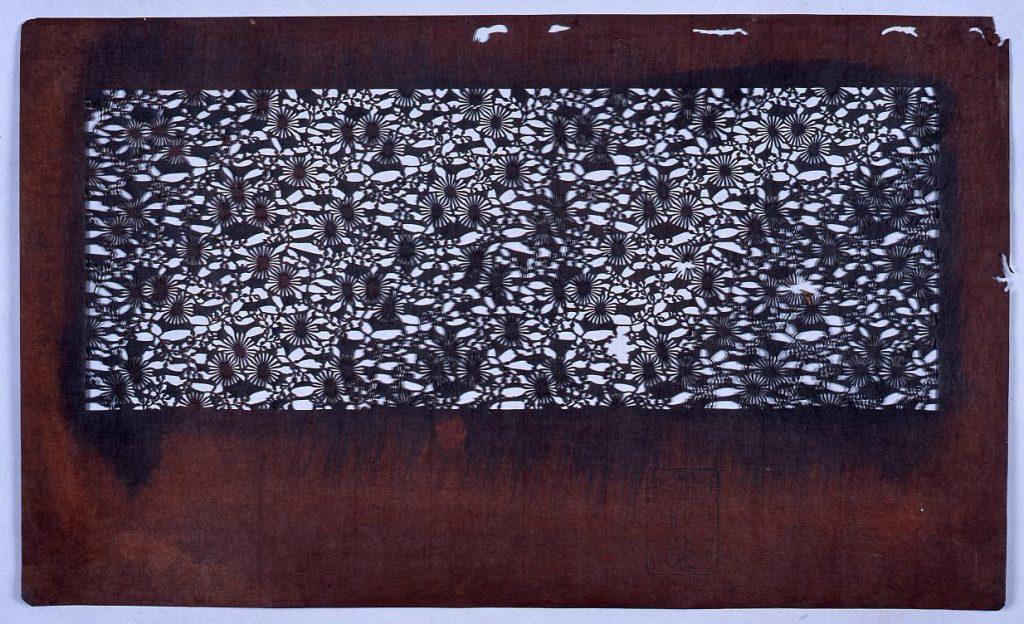 作品画像:長板中形型紙 松葉菊 (小判 追掛)