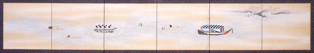 作品画像:隅田川船遊図屏風