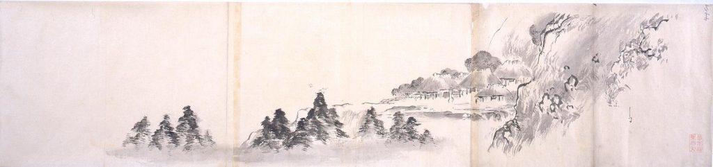 作品画像:粉本 山村風景
