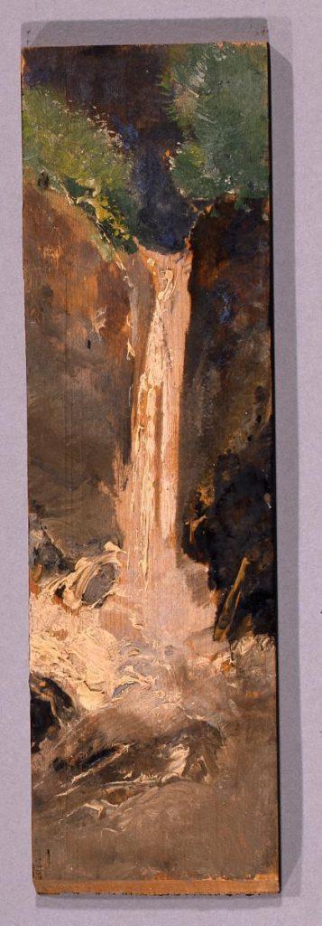 作品画像:油彩画 滝