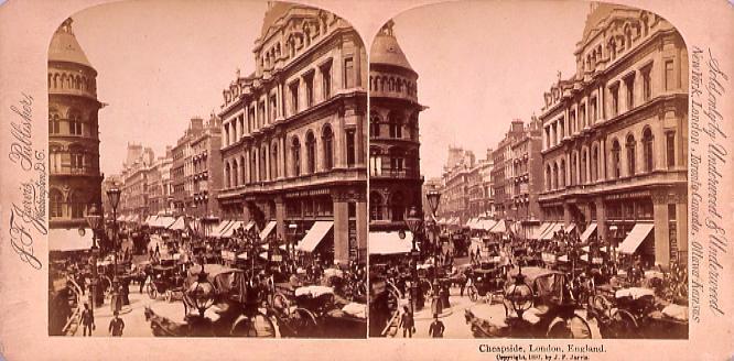 作品画像:外国製ステレオ写真 Cheapside,London,England.