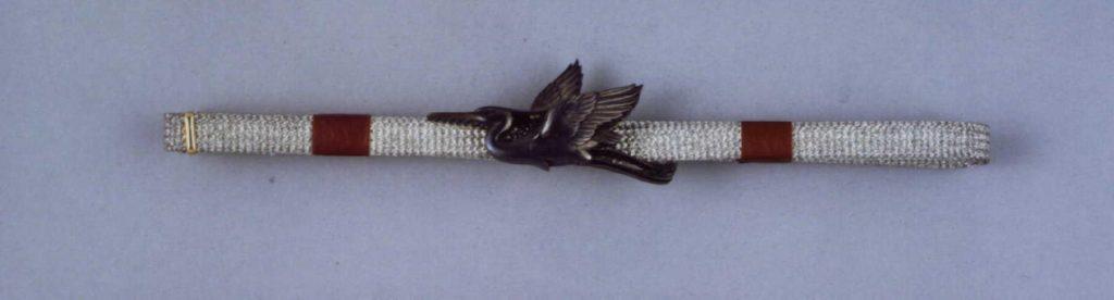 作品画像:鳥彫帯留付帯締