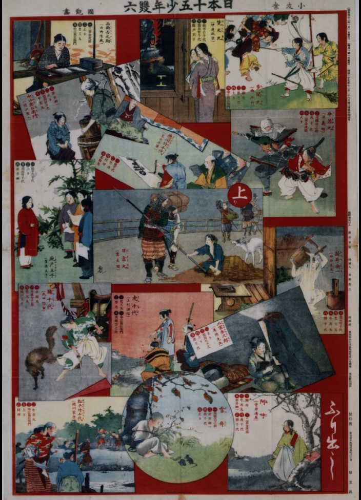 作品画像:日本十五少年双六(『少年世界』15巻1号付録)