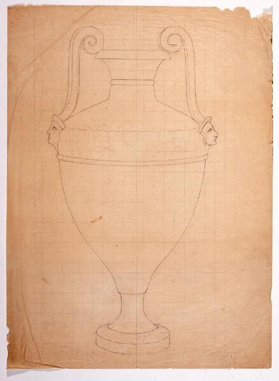 作品画像:下絵 ギリシャの壺