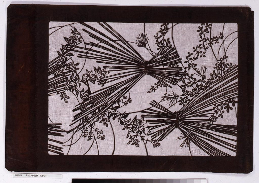 作品画像:長板中形型紙 霜かこい