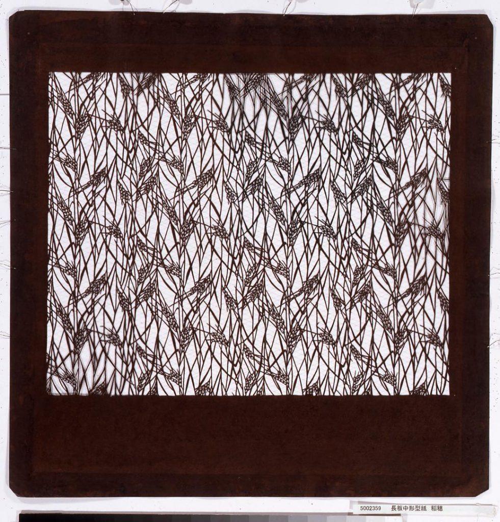 作品画像:長板中形型紙 稲穂