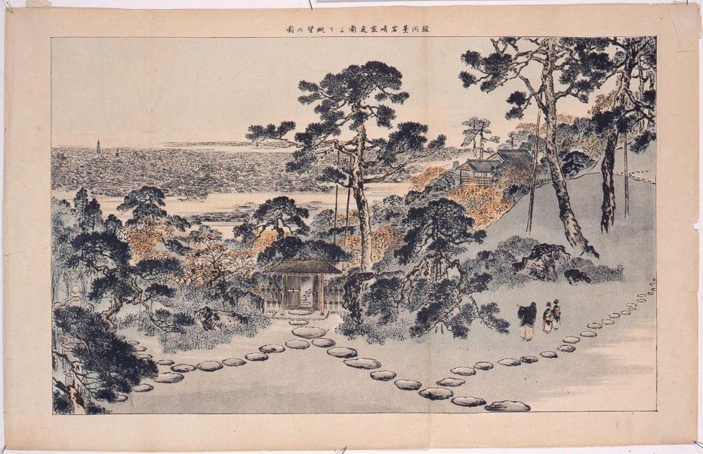 作品画像:駿河台岩崎家庭園より眺望の図