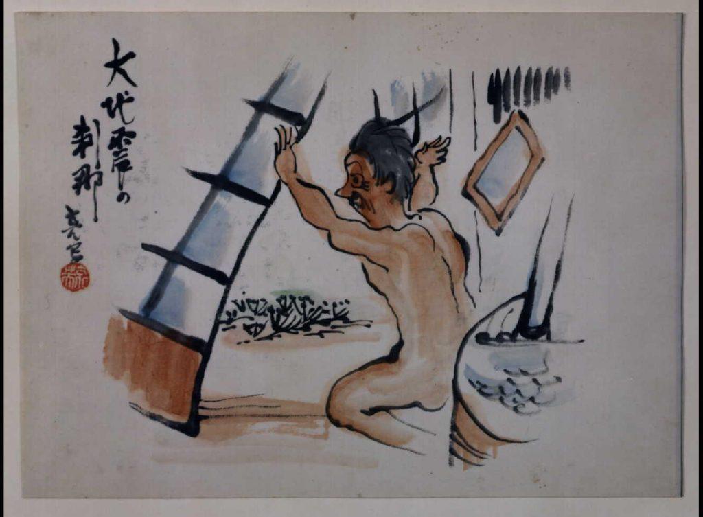 作品画像:関東大地震画:大地震の刹那