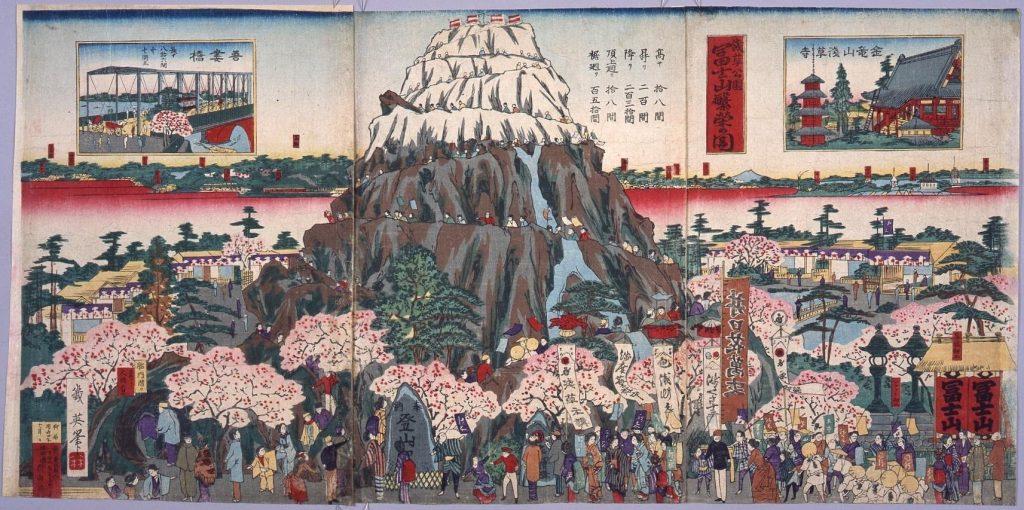 作品画像:浅草公園富士山繁栄之図