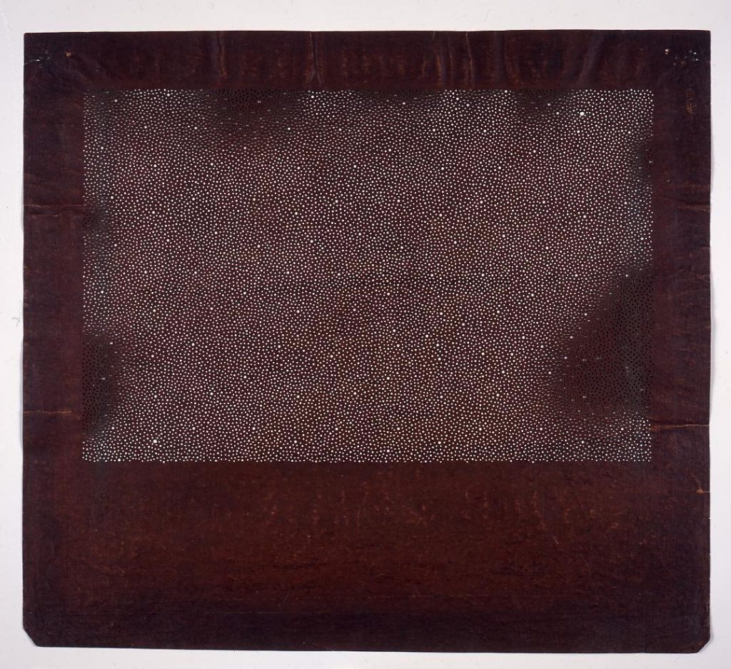 作品画像:長板中形型紙 大小あられ