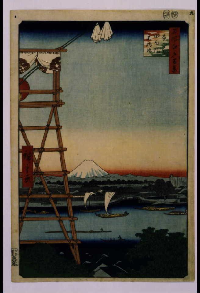 作品画像:名所江戸百景 両ごく回向院元柳橋