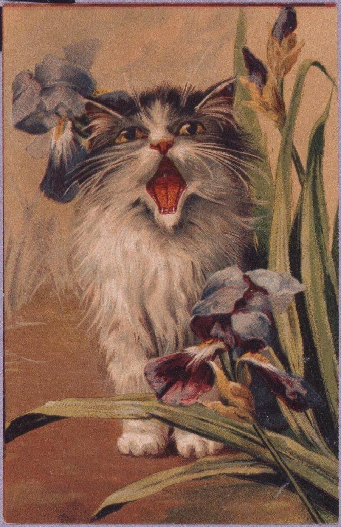 作品画像:釣った魚を猫に取られる(外国製)