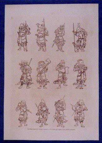 作品画像:アンベール「幕末日本図絵」挿絵 地獄大夫,十二支図