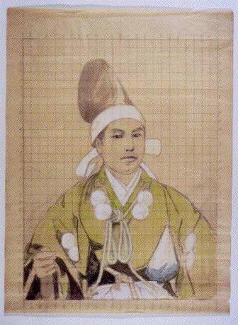 作品画像:下絵   皆川平恪肖像