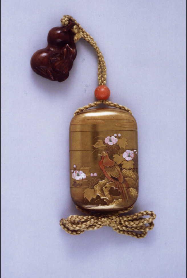 作品画像:雉芙蓉蒔絵螺鈿印籠