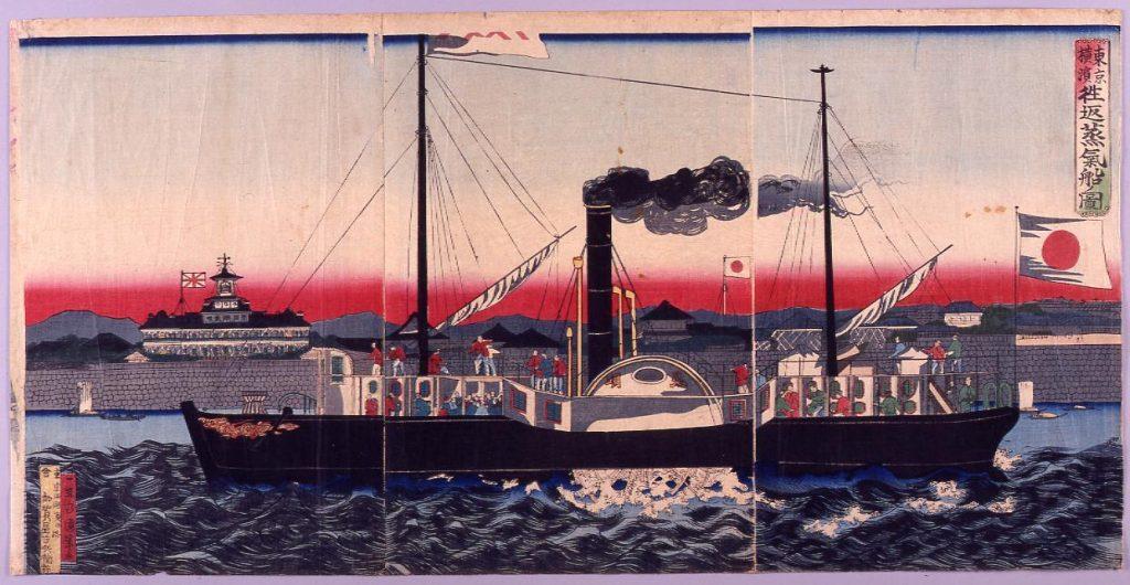 作品画像:東京横浜往返蒸気船ノ図