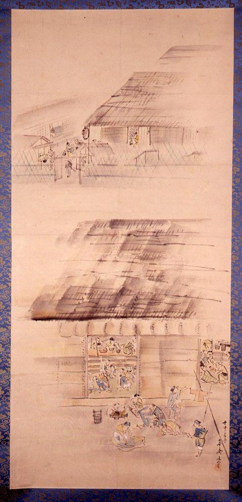 作品画像:安政大地震 お救小屋の図