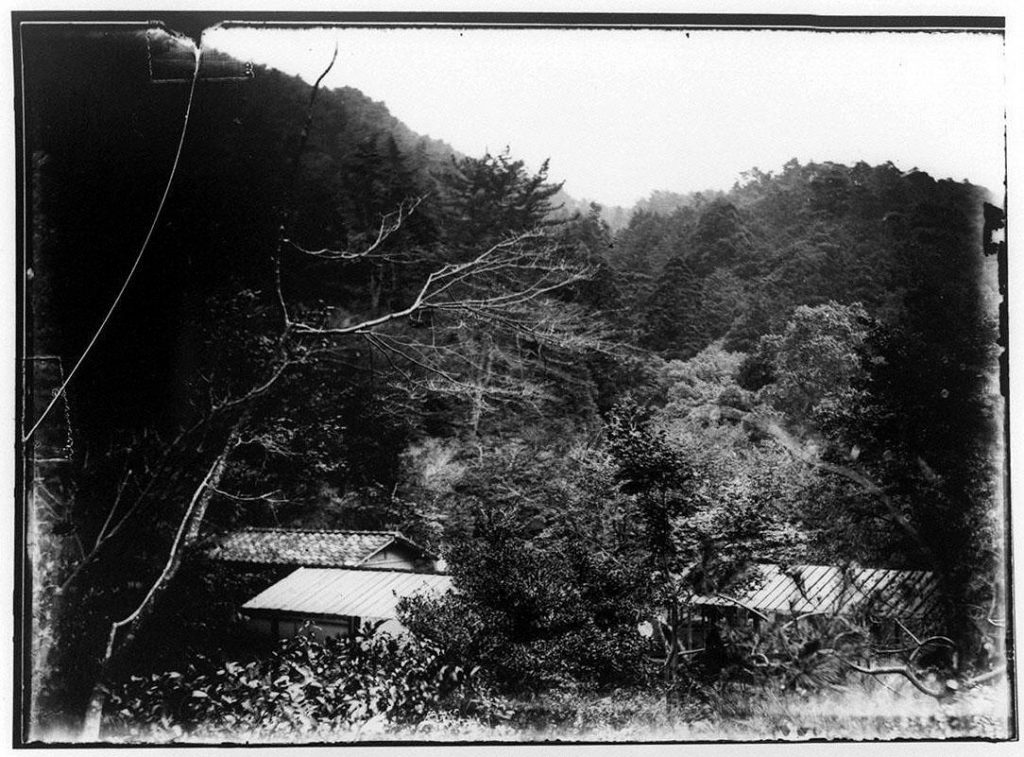 作品画像:山中の民家