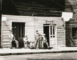 作品画像:床屋、南部の町