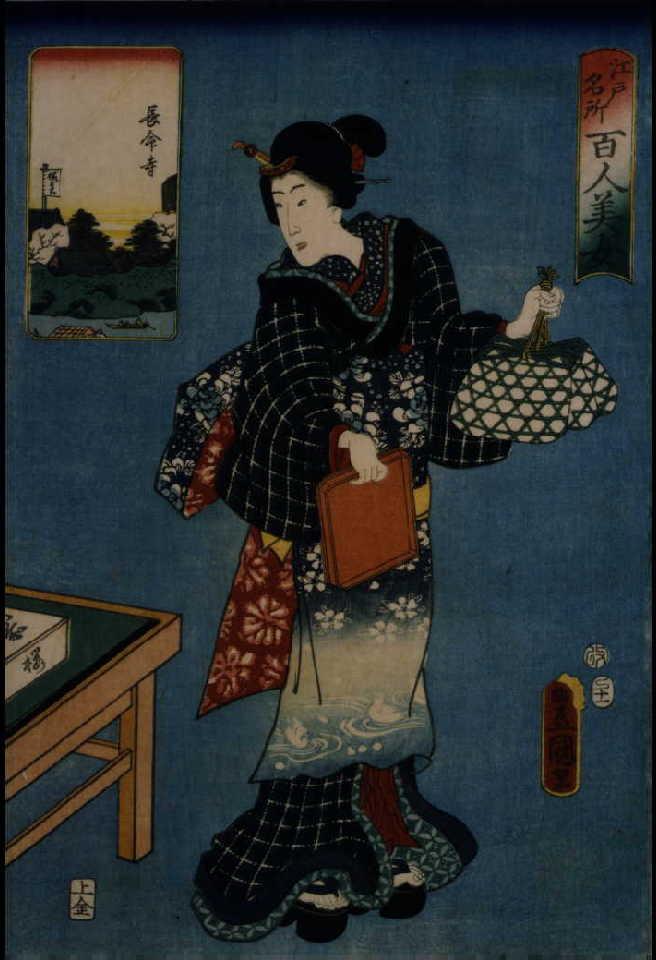 作品画像:江戸名所百人美女 長命寺