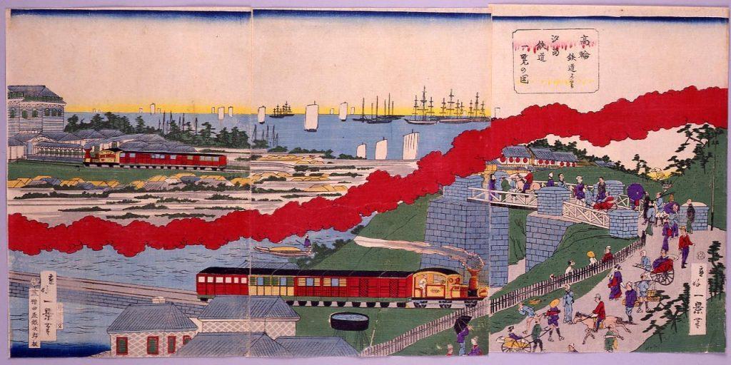 作品画像:高輪鉄道より汐留鉄道一覧の図