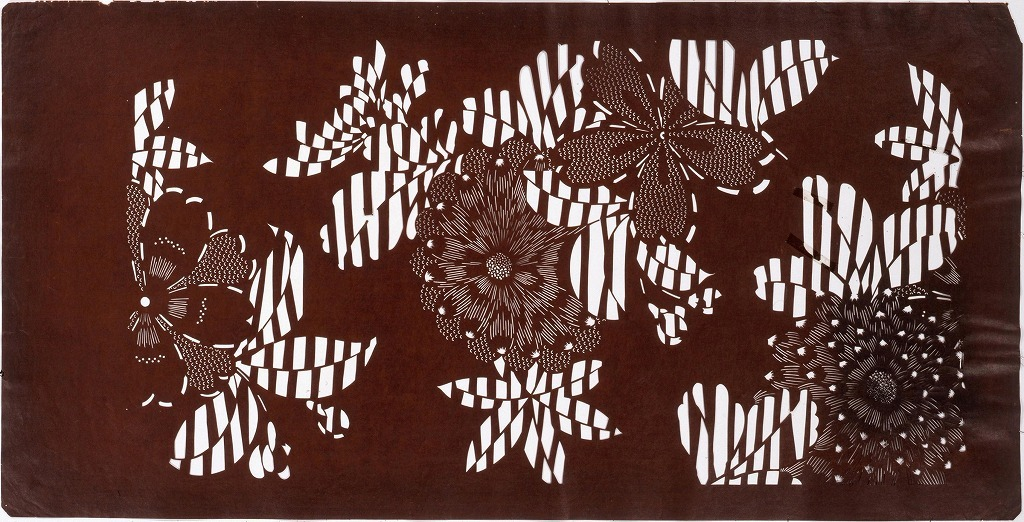 作品画像:長板中形型紙 菊(大判 追掛)
