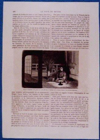作品画像:アンベール「幕末日本図絵」挿絵 節分豆蒔き,月見の詩作